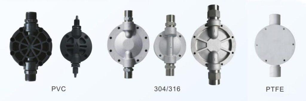 metering pump head material