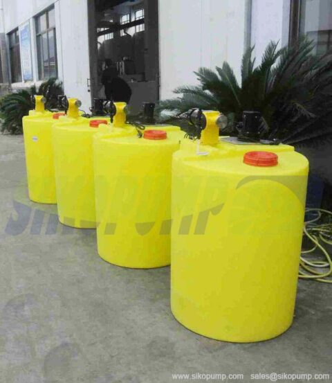 chemical metering tank