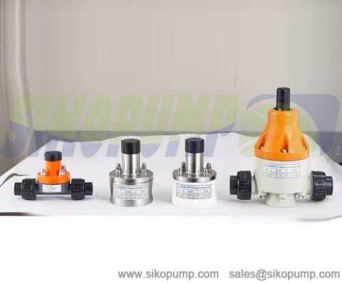 metering pump back pressure valve