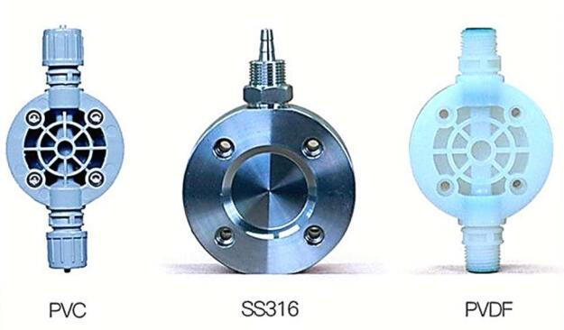 solenoid metering pump head material